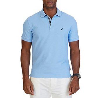 Nautica® Men's Short Sleeve Solid Deck Polo