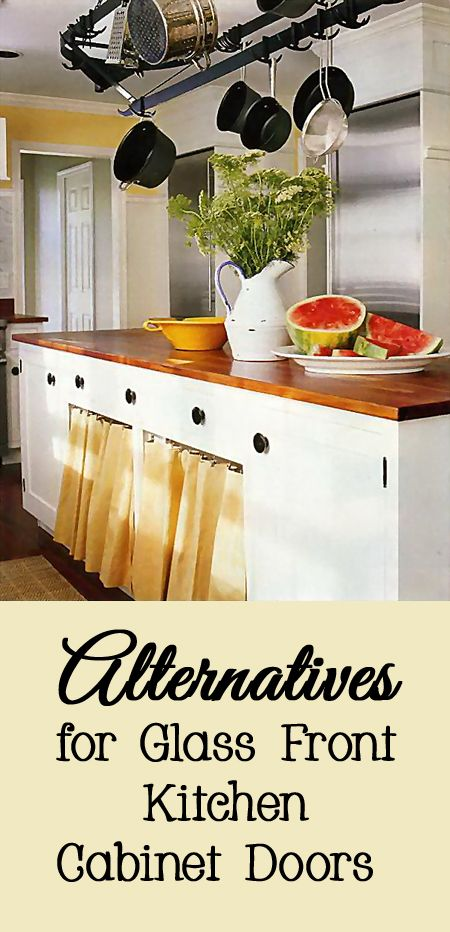 Alternatives for Glass Front Kitchen Cabinet Doors ...