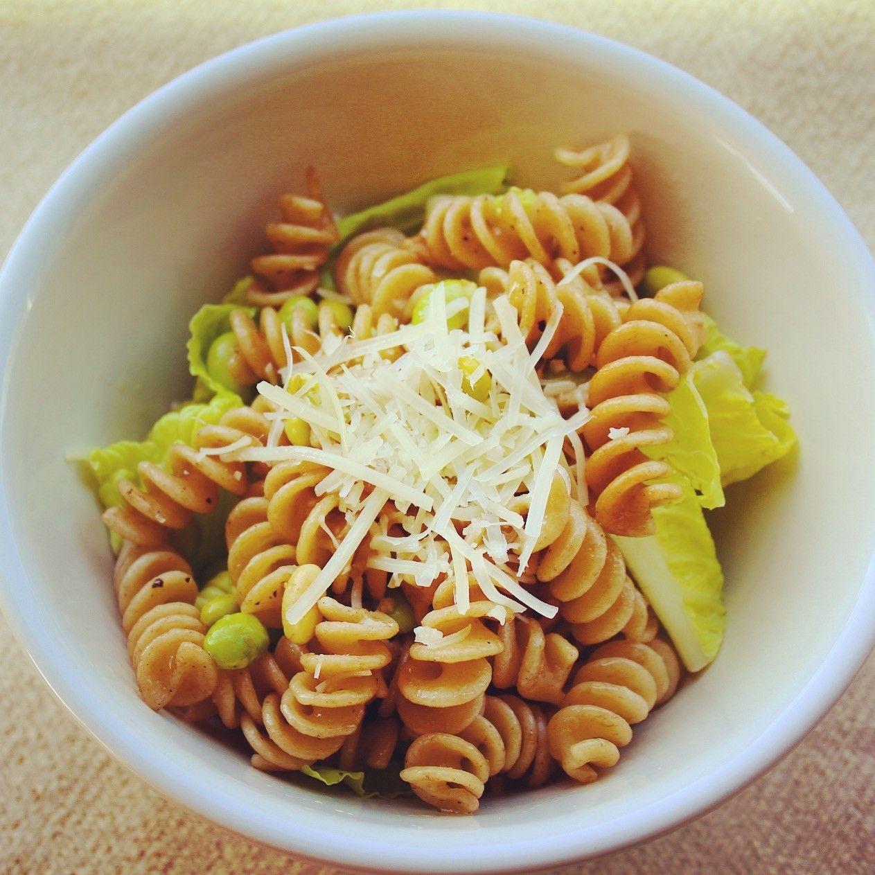 Simple Edamame Pasta Salad Recipe With Images Vegetarian