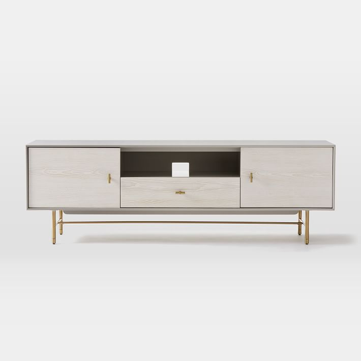 Modernist Wood Lacquer Media Console 68 Winter Wood