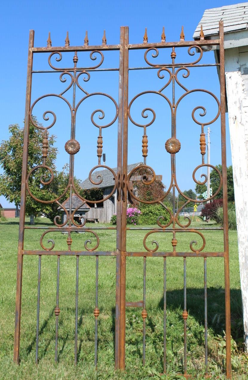 Iron Country French Arbor Entry Gate 8 Tall Arch Cat Gate In