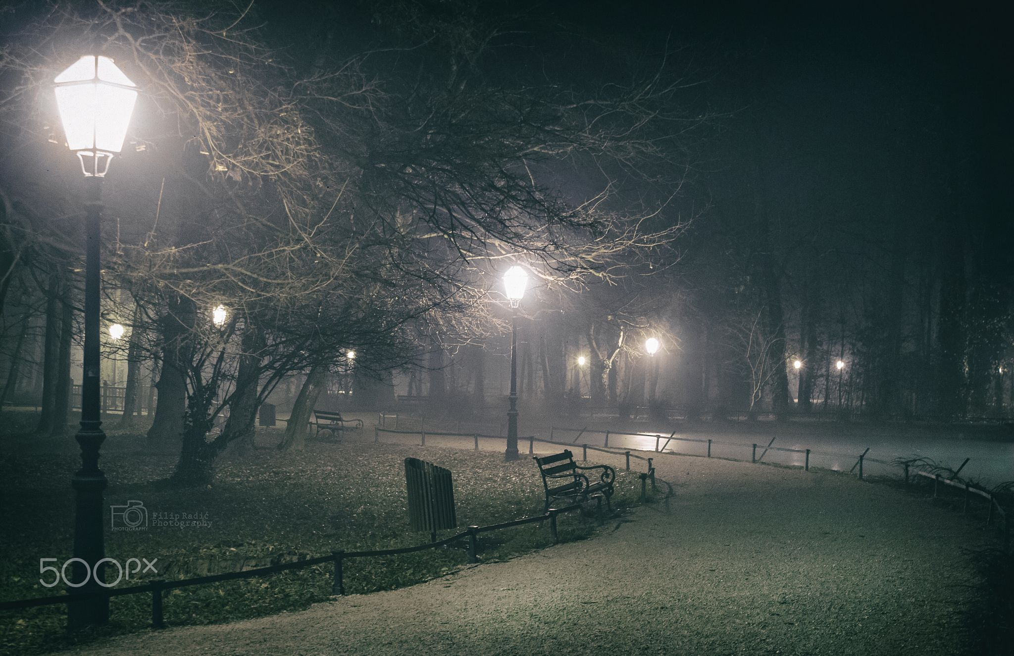 Foggy City Park Maksimir Foggy Park Maksimir Park City Foggy City