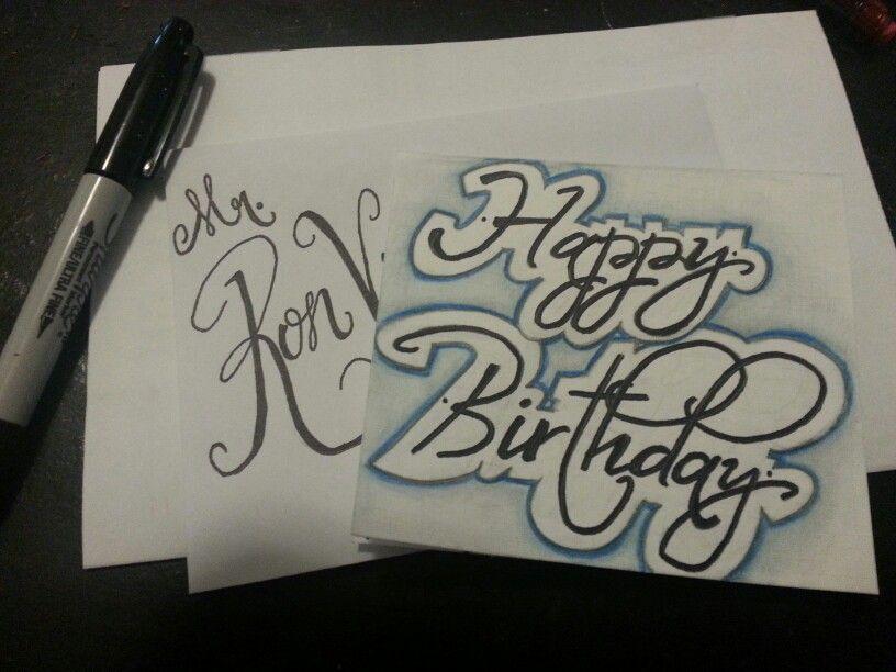 Birthday card for my dad!