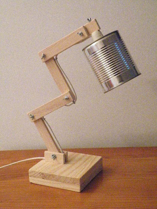Lampes de chevet Lampe bois et bo te de conserve • Mod¨le 3 est une