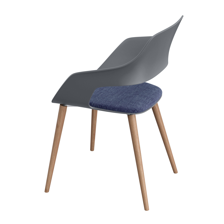Occo Chair Four leg chair with oak frame