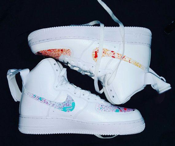 All White High Top Nike Air Force Ones Primes Custom