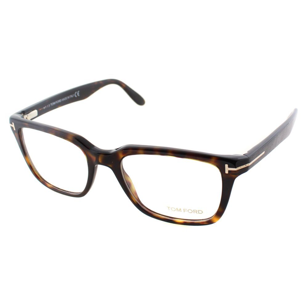 3e0288fa63 Tom Ford Men s Dark Havana Plastic Square Eyeglasses (Tom Ford FT ...