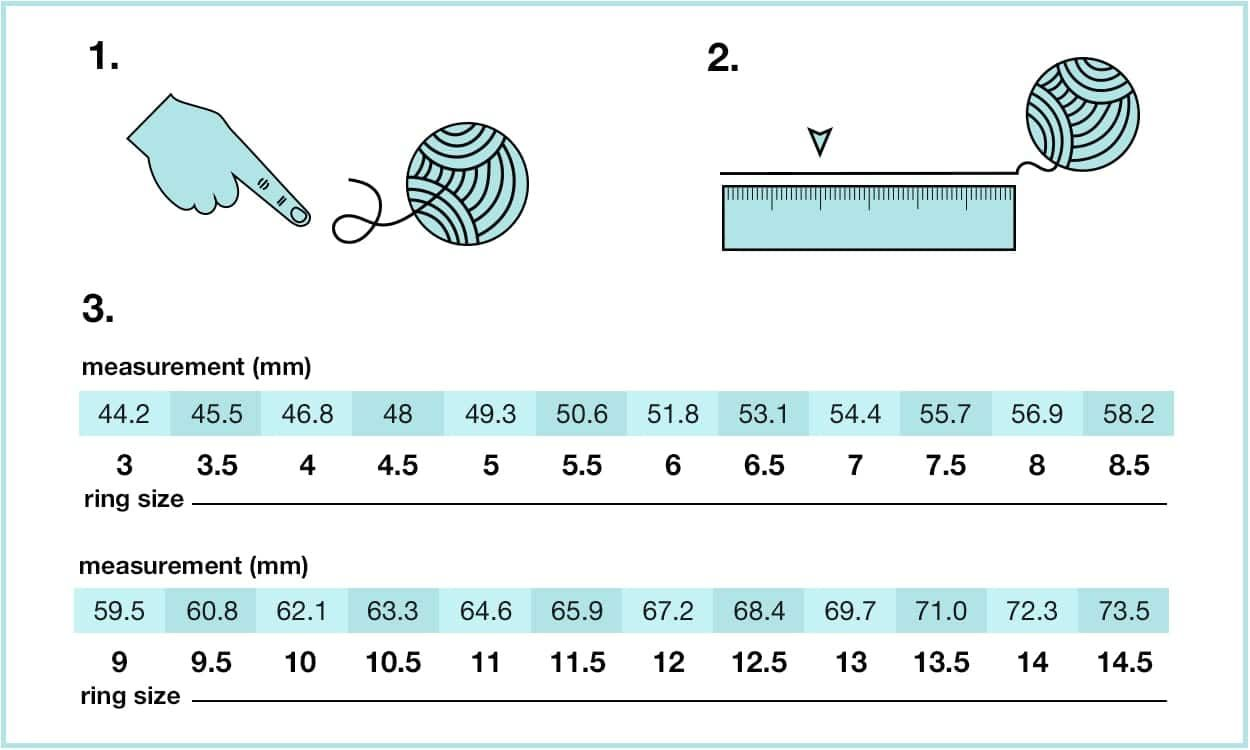 How To Measure Ring Size At Home In 3 Different Ways Overstock Com Measure Ring Size Ring Size Ring Sizes Chart