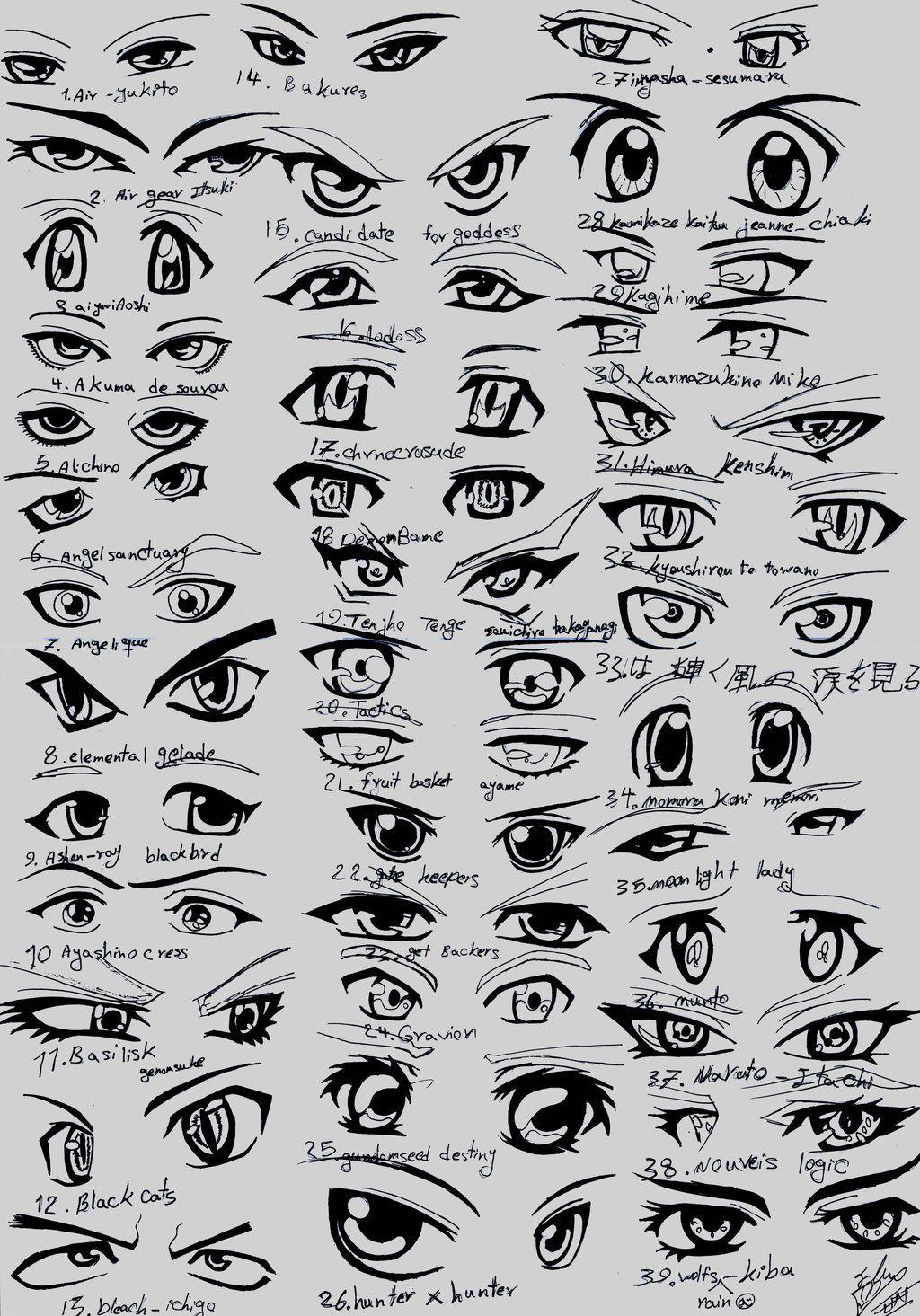Anime eyes 35 Dibujos de ojos, Dibujar ojos de anime