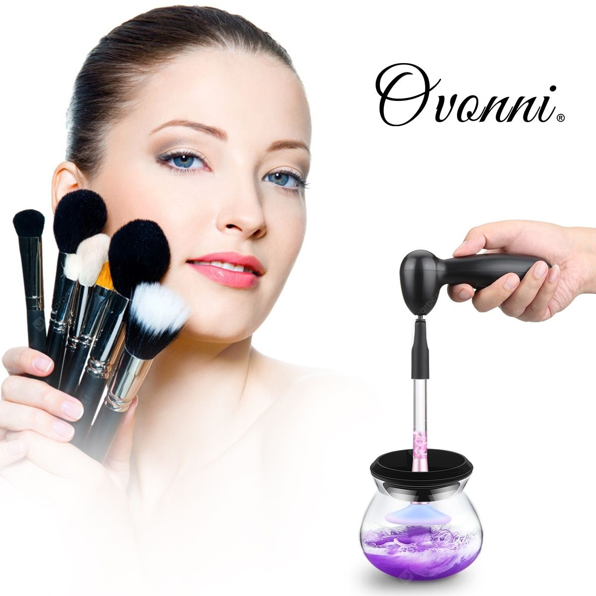 Ovonni Electric Makeup Brush Cleaner Wash and Dry Your