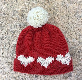 a0d226d4b12 KISSpatterns designed this hat while making baby hats for the American Heart  Association s call for red