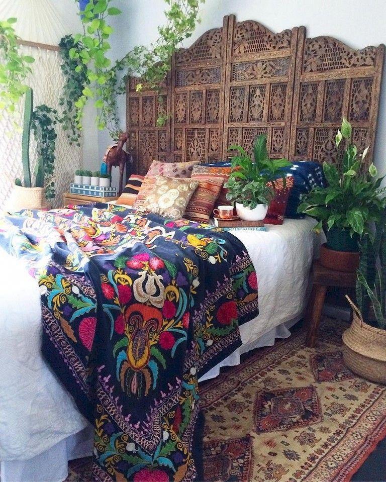 77+ Romany Bohemian Master Bedroom Decor Ideas #bedrooms #bedroomdecor #bedroomdesign #bohemiandecor #bohemianbedroom #homedecoronabudgetbedroom #bohemianbedrooms