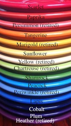 fiestaware colors by year | Fiesta Color Chart For Shop  sc 1 st  Pinterest & fiestaware colors by year | Fiesta Color Chart For Shop | Fiesta ...