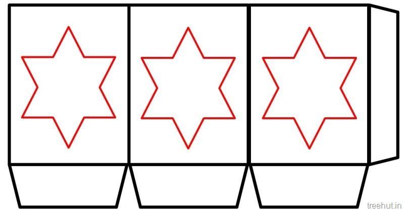 Christmas star Free Printable Paper Lantern Templates (3 ...