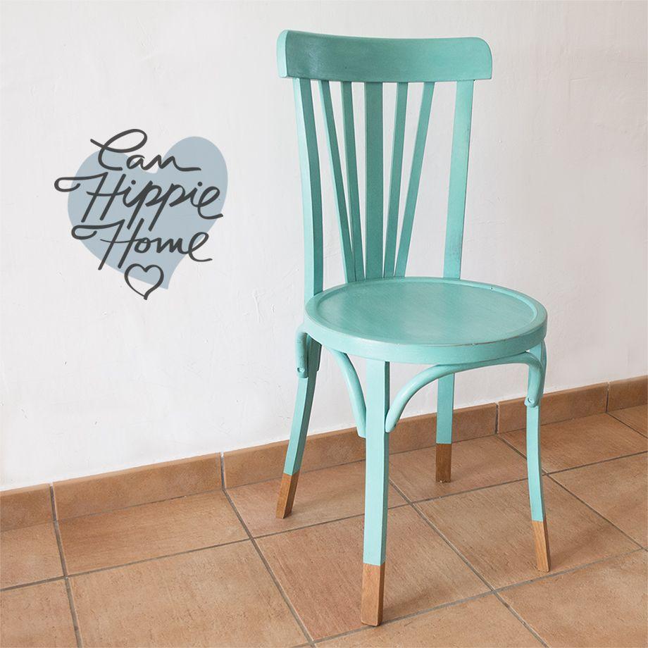 Silla thonet turquesa casita pinterest turquesa sillas y restaurar sillas - Sillas turquesa ...