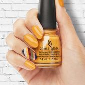 Mustard The Courage To Warm Up Your Fall Mood #yellownails #ovalnails #mustardna