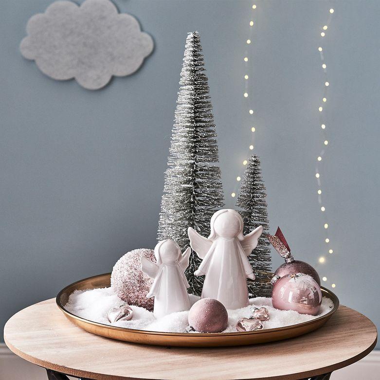Dekofigur Engel, D:6,5cm x H:14cm, weiß - Depot DE #weihnachtlicheszuhause