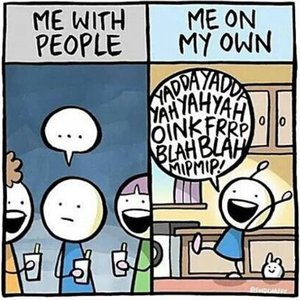 """/Introvert, Dear   ...or with """"my people."""""""