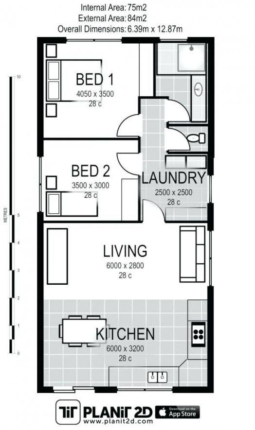Plan Gratuit Petite Maison 3 Chambres Pas 13