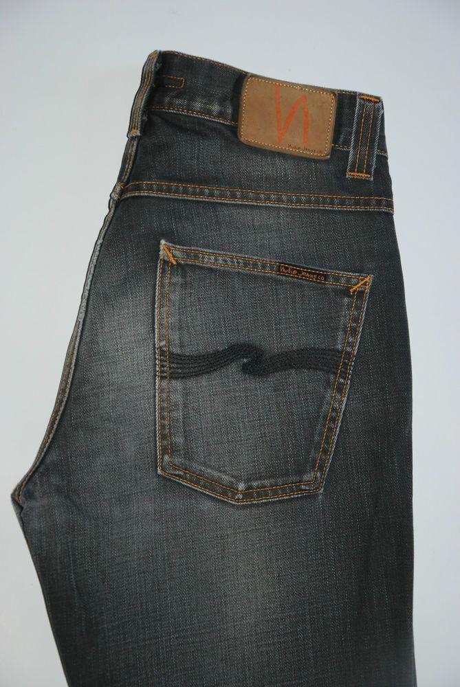 70b3566f NUDIE JEANS SLIM JIM USED COATED GREY NJ2053 MENS... #MensJeans ...