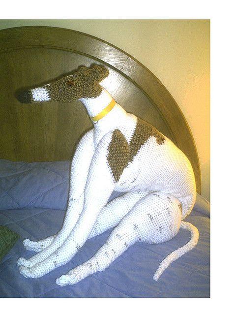 Ronnie Greyhound Crochet Dog Doll by GreyhoundCrafts, via Flickr Crochet Pa...
