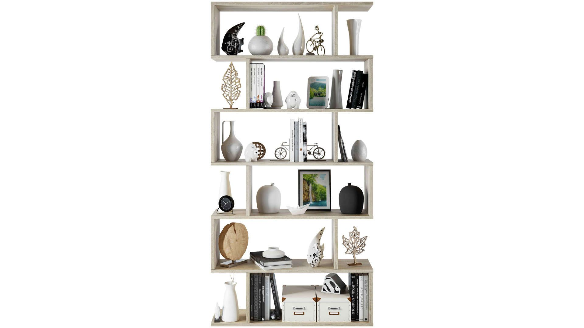 Bibliotheque 6 Cases Athena Case De Rangement Meuble Rangement Etagere Murale Design