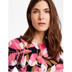 Photo of Gerry Weber Pullover aus reiner Baumwolle gelb / lila / pink bedruckte Frauen Gerry Weber