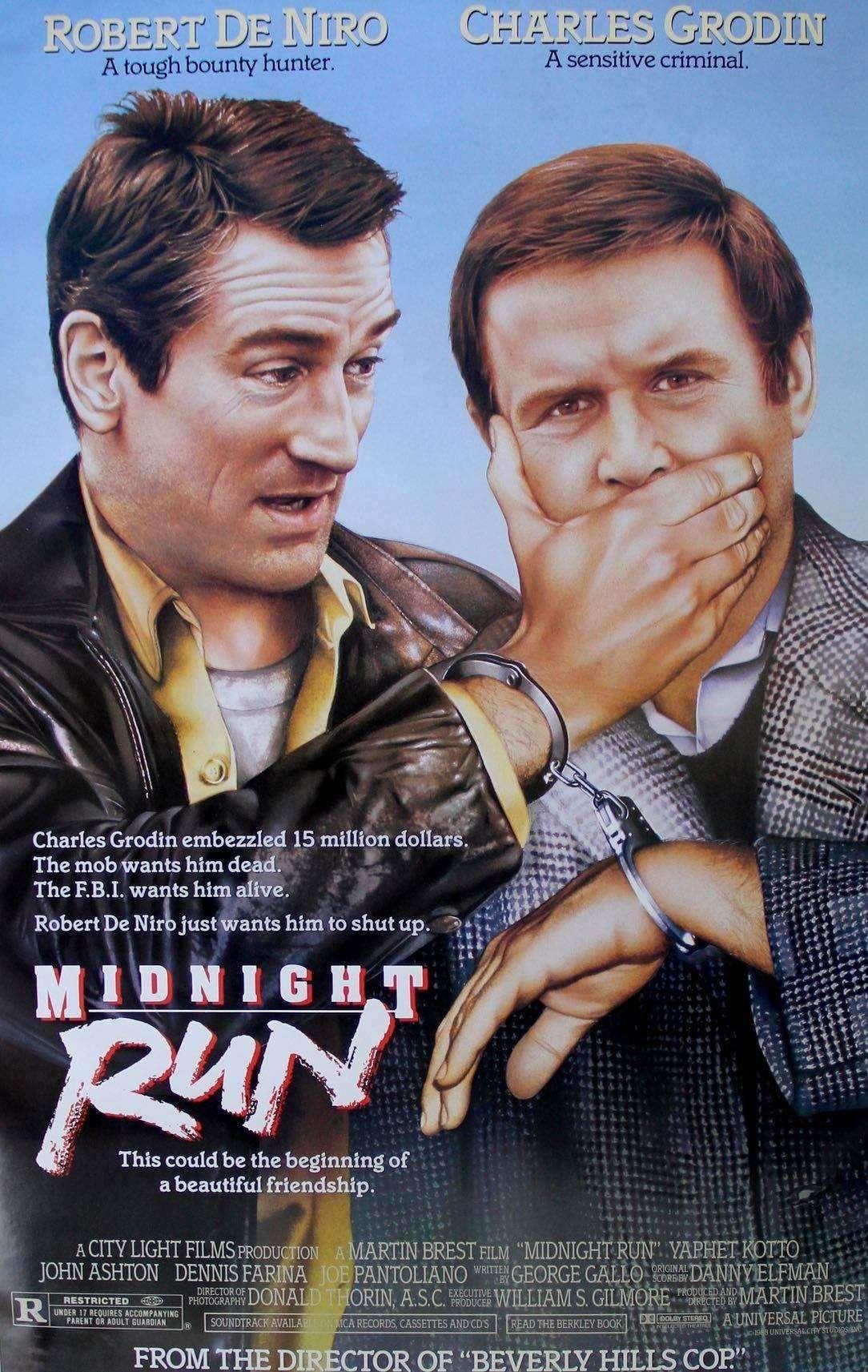 MIDNIGHT RUN Robert de Niro Rétro Film T Shirt