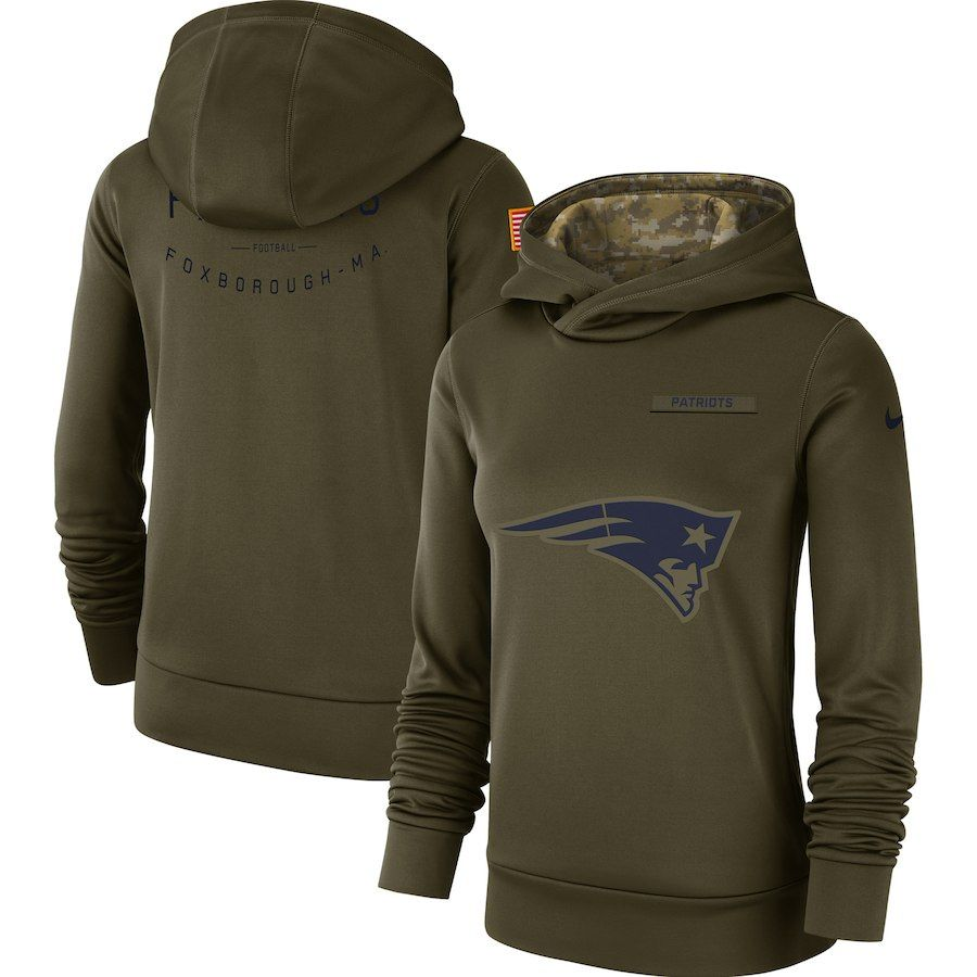 low priced c7013 25832 Women's New England Patriots Nike Olive Salute to Service ...