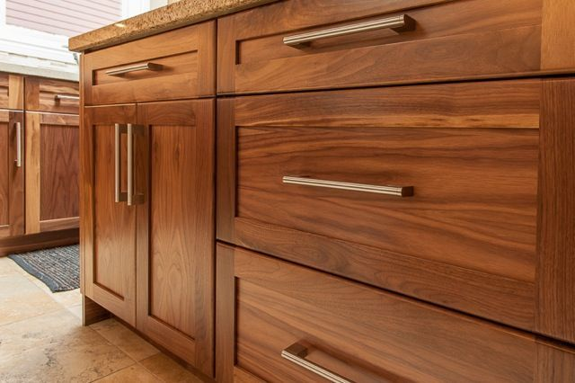 stunning kitchens walnut cabinets | shaker cabinets - Google Search stunning! Love the drawers ...