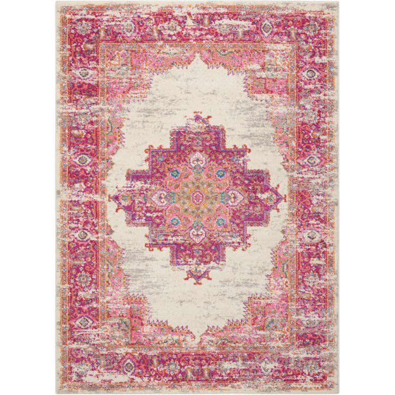 Bethesda Ivory/Fuchsia Indoor Area Rug | Living Room | Pinterest ...
