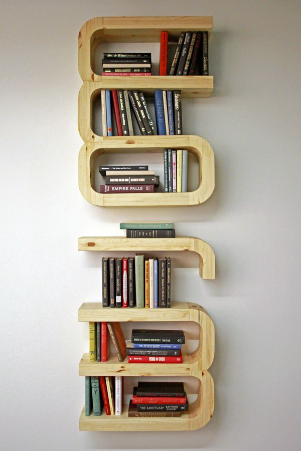 Love This Bookworm Bookshelf By Rachel Ariyavatkul If You Turn It Sideways Spells Worm Click The Link To See Design And Build Process