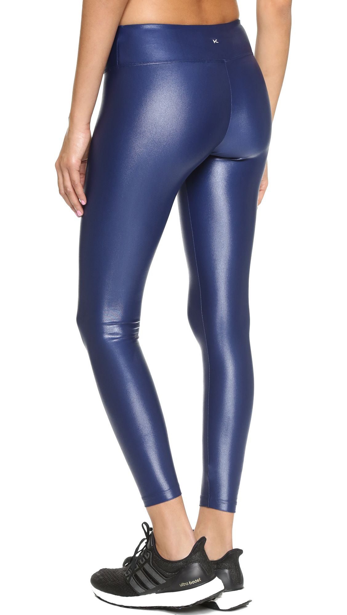 Women's Blue Lustrous Legging