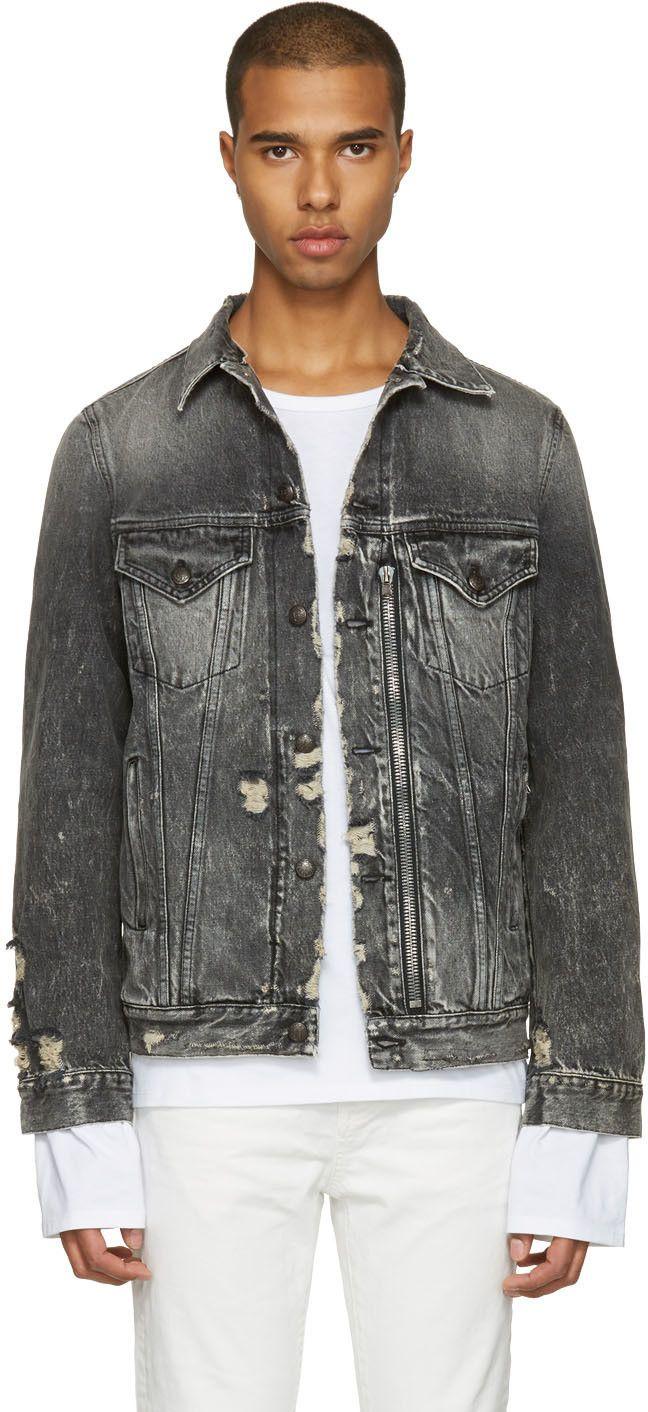Many Kinds Of Online Inexpensive Sale Online Mens Trucker Distressed Denim Jacket R13 kb5ARdP