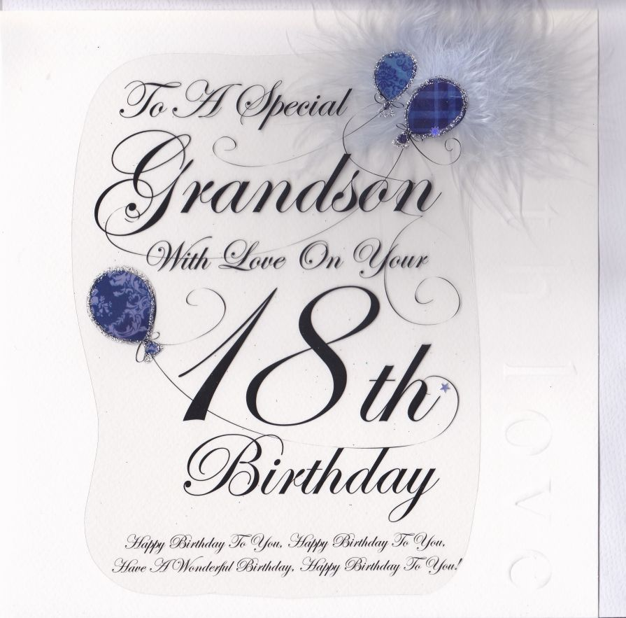 Happy 18th Birthday Grandson