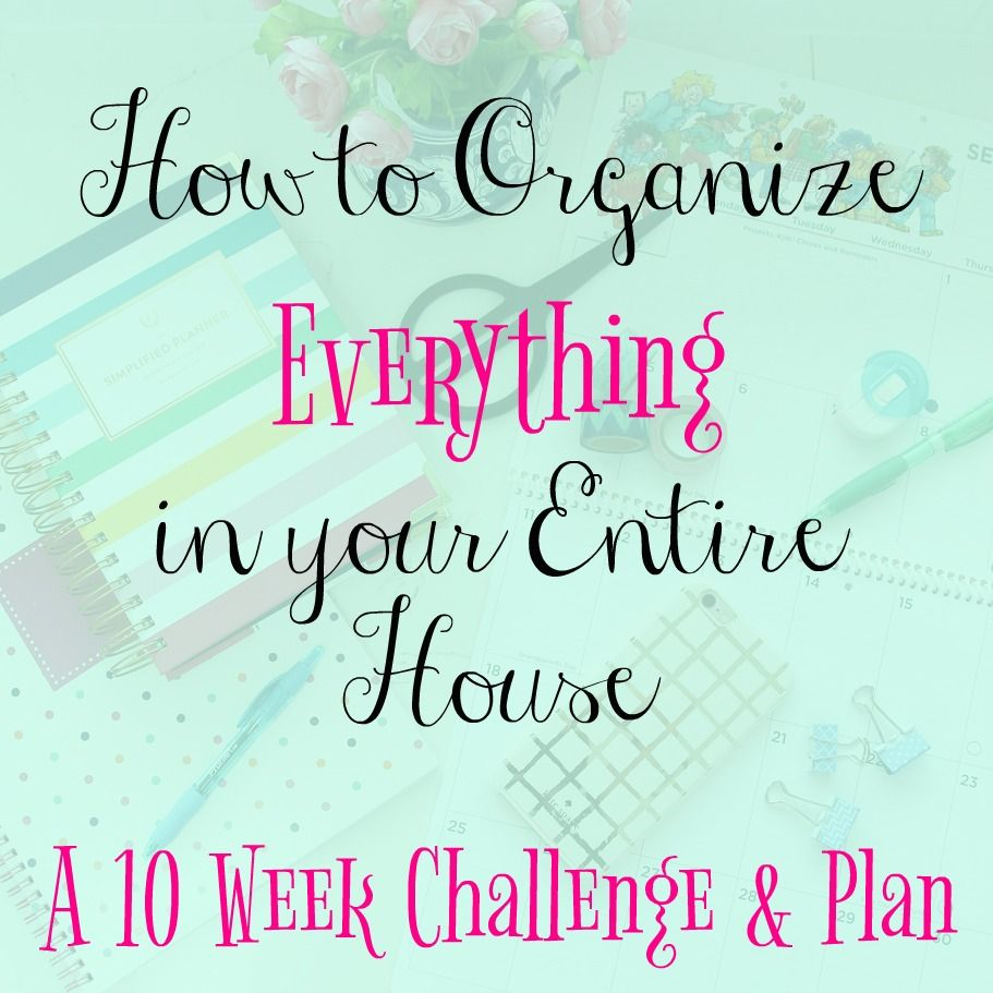 Join Me! A Ten Week Organizing Challenge for Your Entire House | The Happy Housie