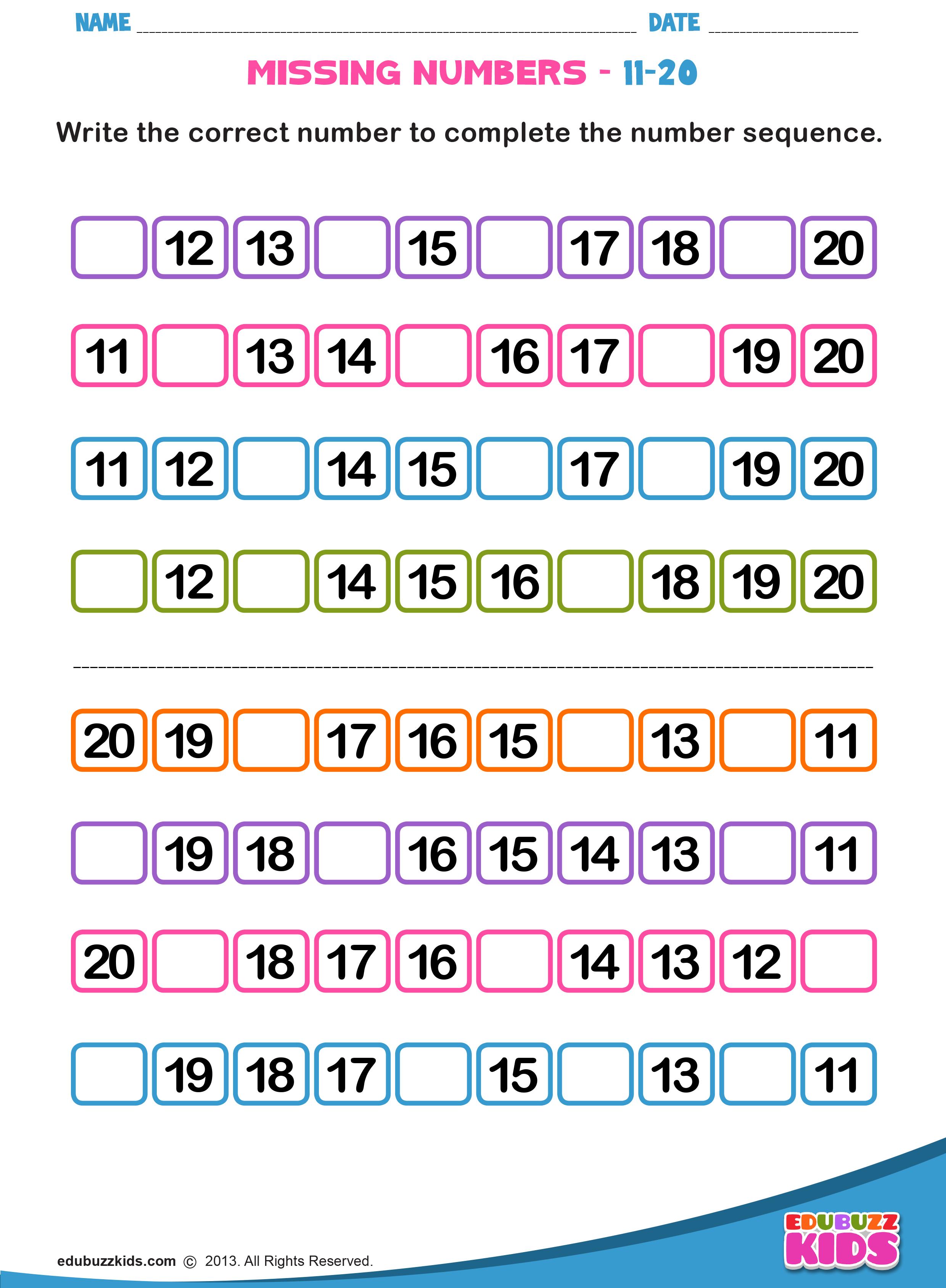 Missing Numbers Atividades De Matematica Pre Escolar Fichas De Exercicios De Matematica Aulas De Matematica [ 3374 x 2480 Pixel ]