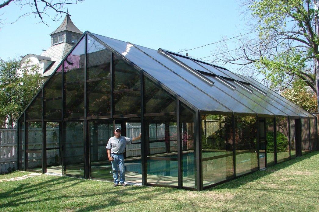 Solar Paneled Enclosed Pool Indoor Pool Ideas In 2019