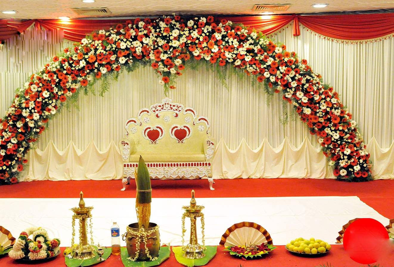 Indian Wedding Stage Decoration With Flowers Indian Wedding