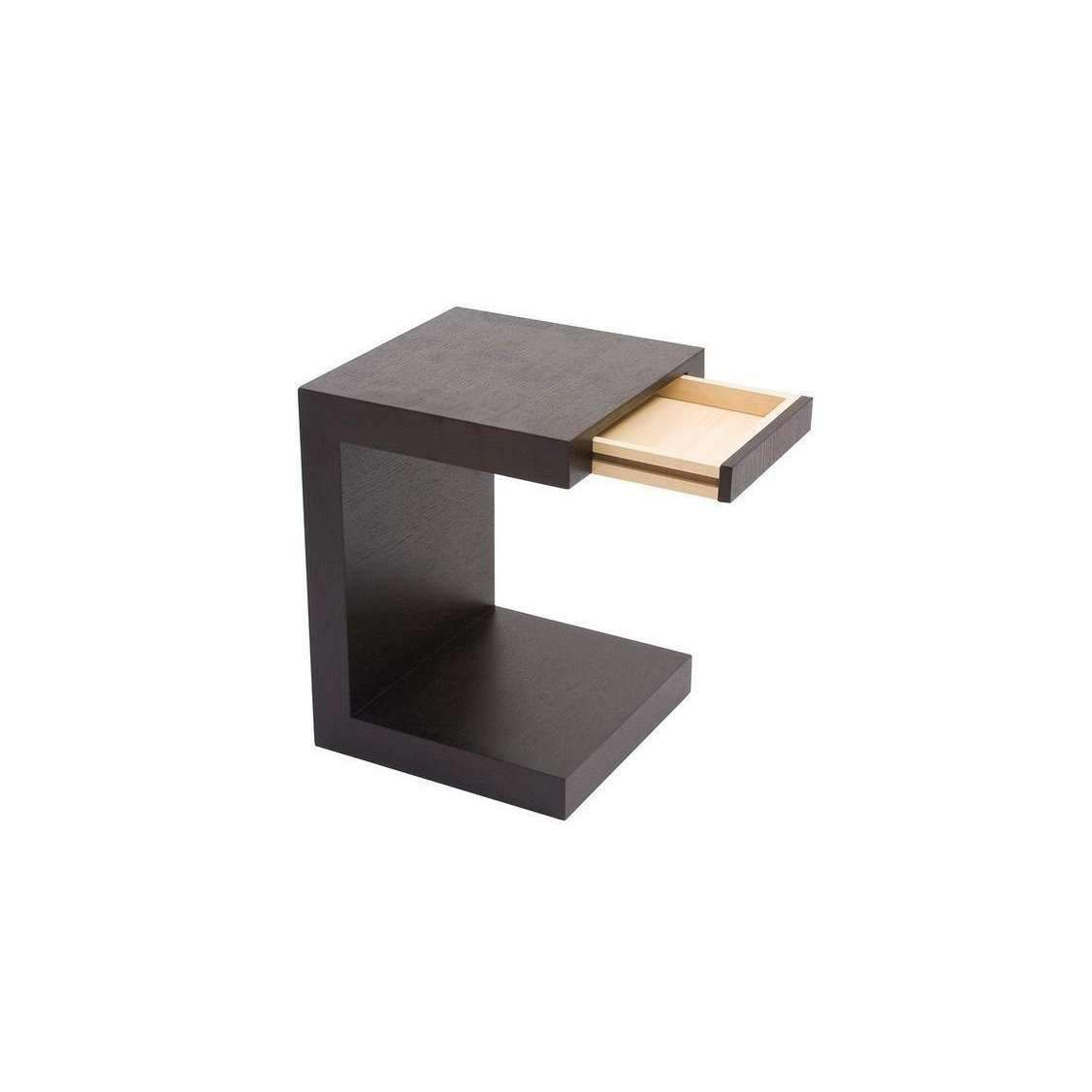 Zio Sidetable Black Oak In 2020 Black Side Table Moe S Home Collection Modern Side Table