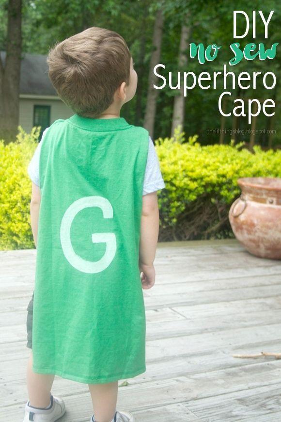 DIY No Sew Superhero Cape #superherocrafts