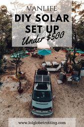 Photo of DIY (do it yourself) solar panel set up for vanlife or camper living! We break i…