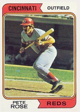 Peterosebaseballcardsprices 1974 Topps Pete Rose 300