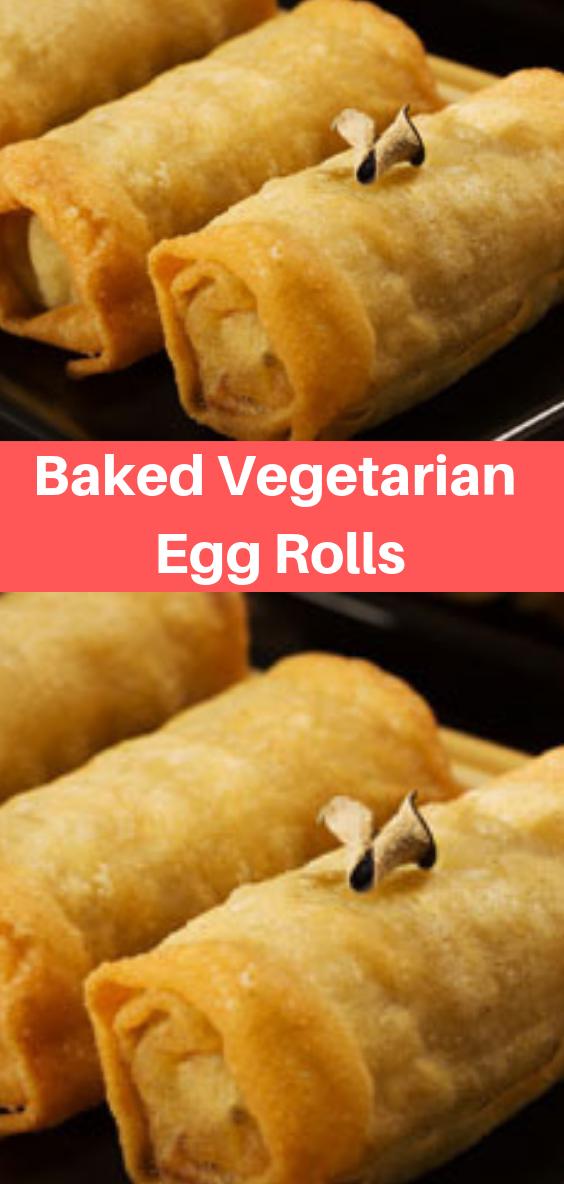 Baked Vegetarian Egg Rolls #eggrolls