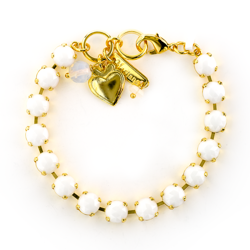 Photo of Must-Have Bracelet in Jade White *Preorder* – Yellow Gold