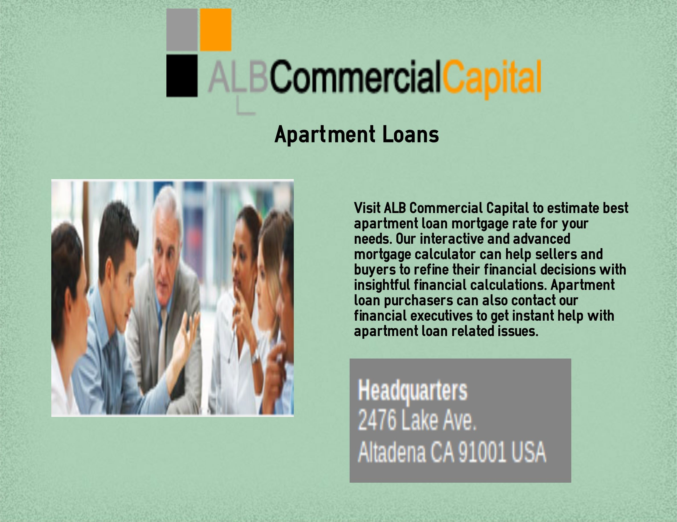 Apartment Building Loan Rates alb commercial capital provide you with the best apartment loans