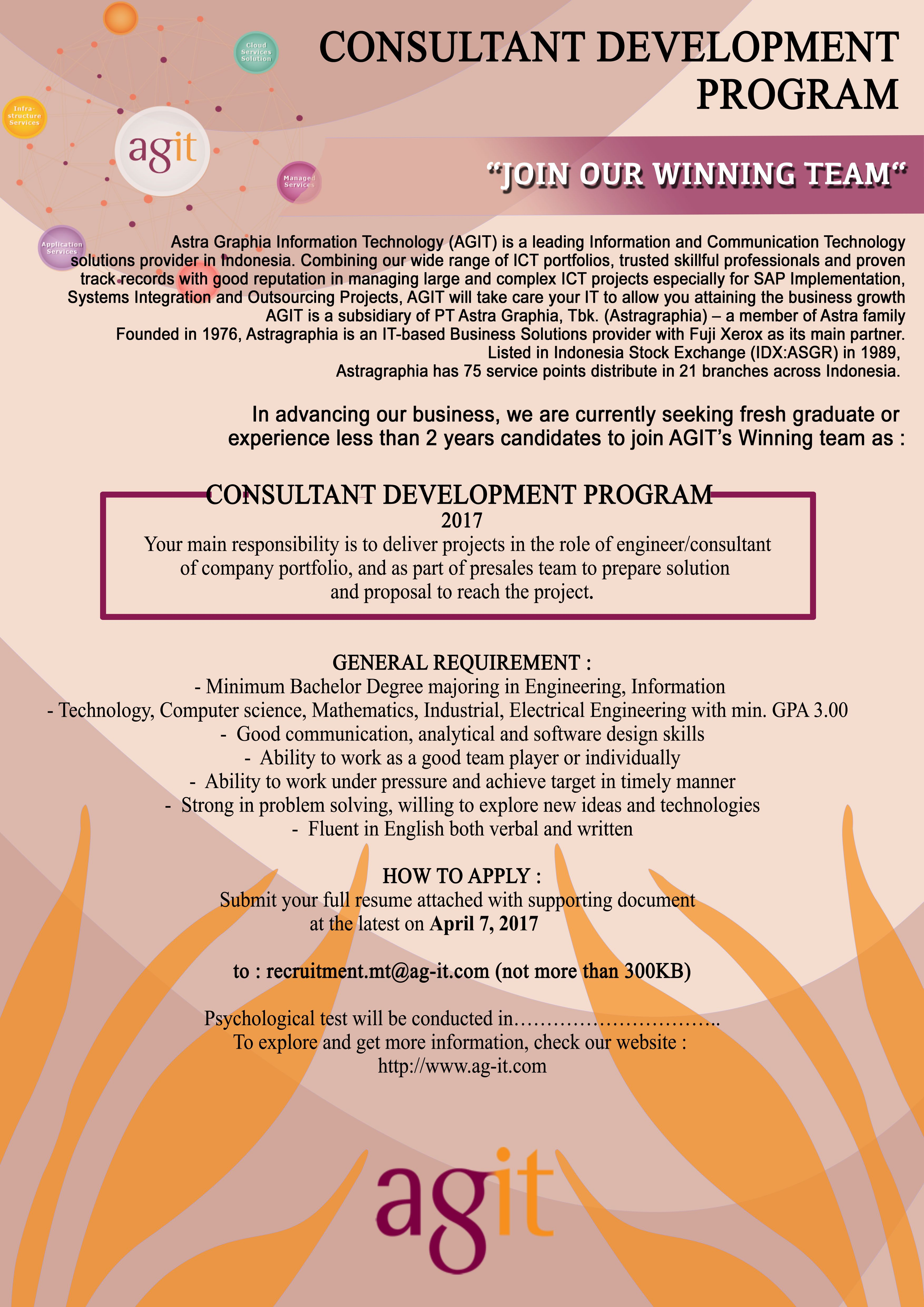 Consultant Development Program 2017 from Astra Graphia Information Technology
