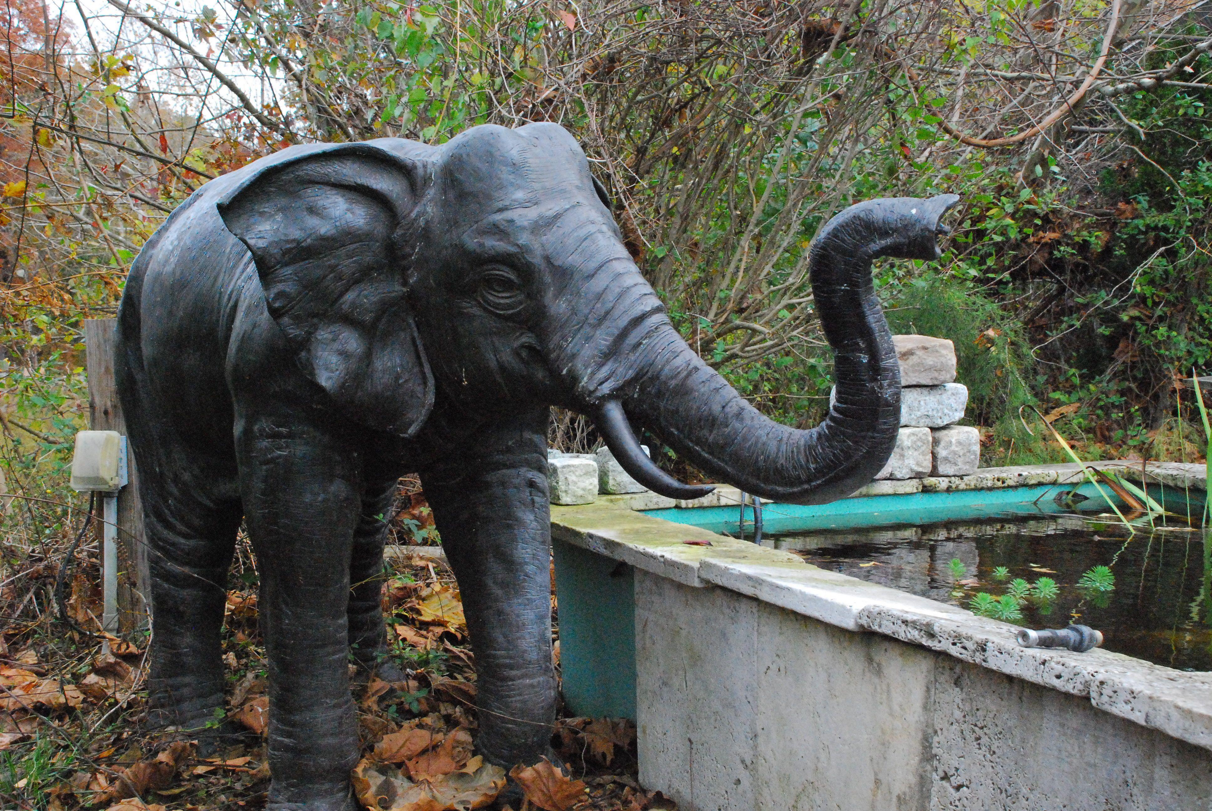 Merveilleux Giant Stone Elephant Fountain | Bronze Elephant Fountain For Pond,elephant  Statue For Garden At
