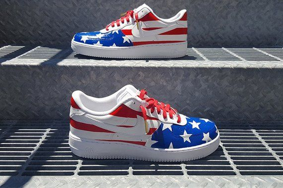 aa08669f1389 Custom Team USA Nike Air Force 1 Low in 2019