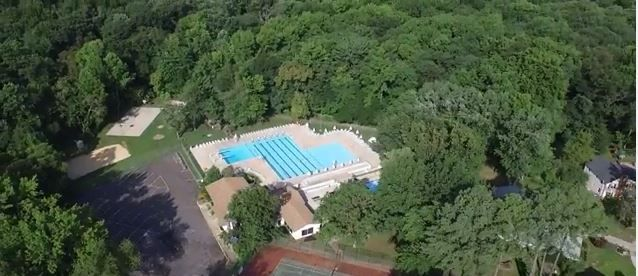 Drone Footage Of The Covered Bridge Swim Club In Barclay Farm Farm Real Estate Drone Cherry Hill